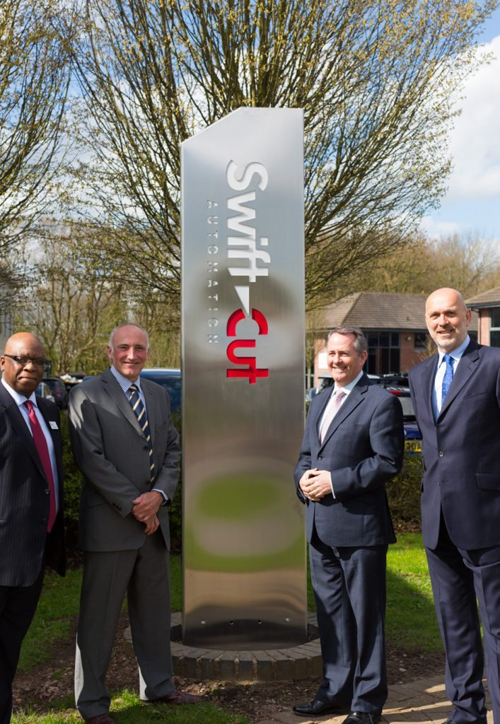 Dr Liam Fox Opens Swift-Cut Factory 2