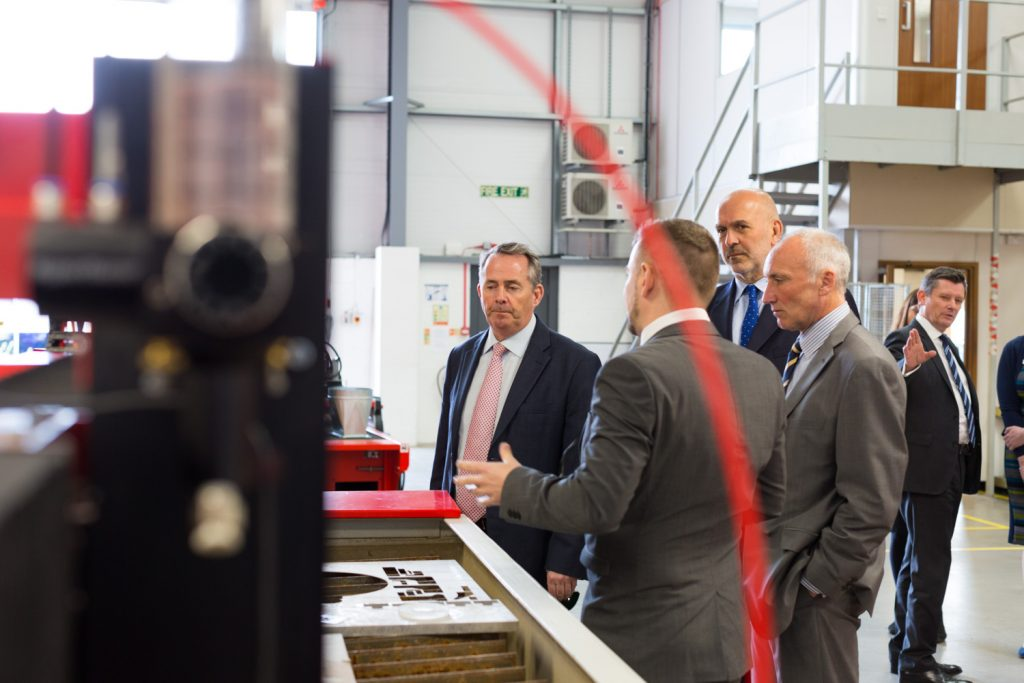 Dr Liam Fox Opens Swift-Cut Factory