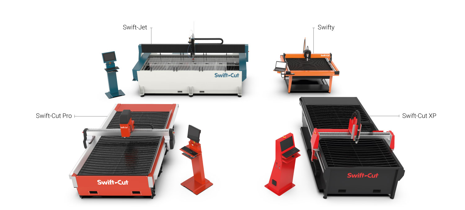 The Swift-Cut machine range - The Swift-Cut Pro, Swift-Cut XP, the Swifty and the Swift Jet