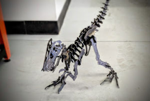 USA Swift-Cut out dinosaur skeleton metal cut out