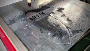 Ferrari logo metal cutting plasma