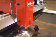 Swift-Cut Pro 10mm CNC plasma cutting table cutting metal with sparks