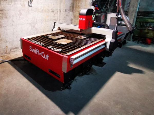 Zermatt Bergbahnen Swift-Cut Pro CNC plasma cutting table